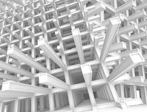 3d abstract architecture background. 3d abstract architecture monochrome background Stock Photography