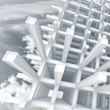 3d abstract architecture square background Stock Photos