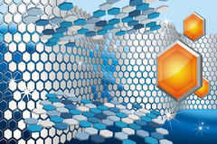 3D abstract background. 3D  abstract background with hexagons Royalty Free Stock Photos