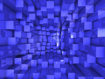 3d abstract background. With blue cubes Stock Image