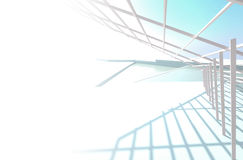 3d abstract background. 3d abstract architectural white and blue background Royalty Free Stock Photos