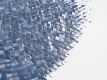 3d abstract background. Of a set of randomly placed cubes royalty free illustration