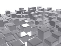 3d abstract background. Glossy grey cubes Stock Photo