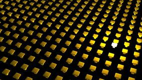 3D abstract background. Abstract array of 3d objects Stock Photo