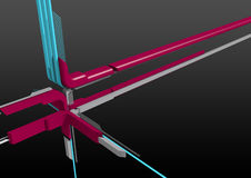 3D abstract background. A 3D background with abstract lines and details Stock Images