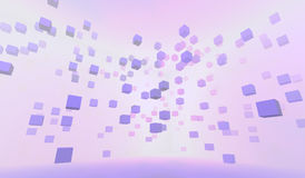 3d abstract background. With pink cubes royalty free illustration