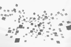3d abstract background. With gray cubes stock illustration