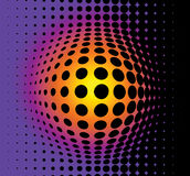 3D abstract background. Made from black dots stock illustration