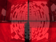 3d Abstract Background. An abstract 3d background with cubes growing out of it Stock Photography