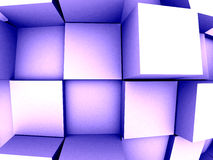 3d Abstract Background. An abstract 3d background with cubes growing out of it Stock Image