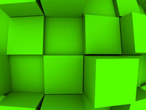 3d Abstract Background. An abstract 3d background with cubes growing out of it Royalty Free Stock Images