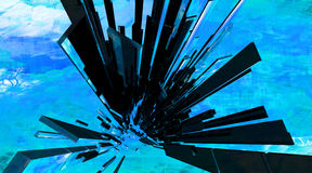 3D abstract background design. 3D abstract space background design Royalty Free Stock Photos