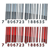 3d abstract barcodes. Illustration for the web Royalty Free Stock Photo
