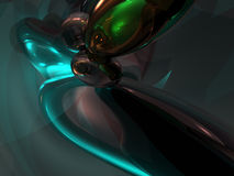 3D Abstract Blue Green Color Render Background. Wallpaper Stock Photo