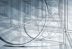 3d abstract blueprint illustration background Stock Photography
