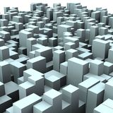 3d Abstract Boxes From Cube 01 Royalty Free Stock Photo