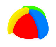 3d abstract chart. For company presentation Royalty Free Stock Photos