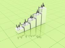 3d abstract chart. For company presentation Stock Image