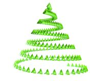 3d abstract christmas tree. Modern object Stock Photos