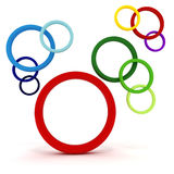 3d abstract circles. On white background Royalty Free Stock Image