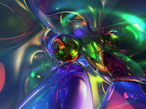 3D Abstract Colorful Glassy Wallpaper Background Stock Image