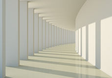 3D abstract corridor Royalty Free Stock Photo