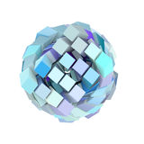 3d abstract cube ball shape in blue purple Stock Photo