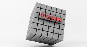 3d Abstract Cube in business team Stock Photography