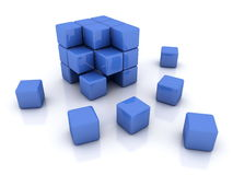 3d abstract cubes Stock Photos