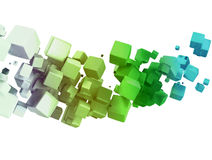3D abstract cubes Stock Image