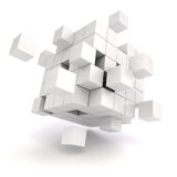3d abstract cubes. On white background Stock Photo