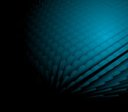 3d abstract dynamic blue background. On black Stock Photos