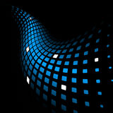 3d abstract dynamic blue background. On black Stock Image