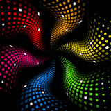 3d abstract dynamic rainbow background. On black Royalty Free Stock Images