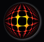 3d abstract fireball. 3d abstract sphere full of fire Royalty Free Stock Photo