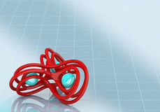 3d Abstract form. 3d Abstract red  form on white Royalty Free Stock Image