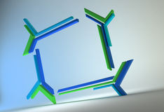 3d abstract frame. Futuristic technology 3d abstract frame Royalty Free Stock Images