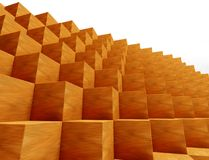 3d abstract geometric shape, cubes Royalty Free Stock Images