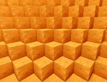 3d abstract geometric shape, cubes. 3d abstract geometric shape from cubes Stock Photography