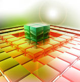 3D abstract glanzend ontwerp Stock Foto
