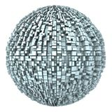 3d Abstract Globe From Boxes 01 Stock Images