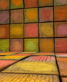 3d abstract graffiti spray room space backdrop in multiple color Stock Photography