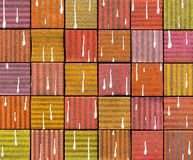 3d abstract graffiti spray tile backdrop with drip. Abstract graffiti spray tile backdrop with drip Stock Photos