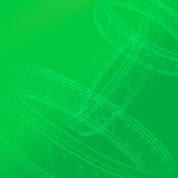 3D Abstract in green Royalty Free Stock Image