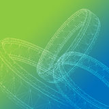3D Abstract in green and blue Stock Photography