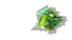 3d abstract green spiked electric shape. Abstract green spiked electric shape Royalty Free Stock Photos