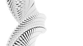 3d abstract  helix made of white chamfer boxes. 3d abstract background illustration with helix made of white chamfer boxes Stock Photography