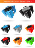 3d Abstract Icon Series - Set 4 Stock Photography