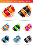 3d Abstract Icon Series - Set 6 Stock Photography