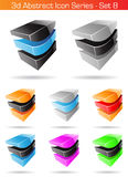 3d Abstract Icon Series - Set 8. Vector EPS illustration of 3d Abstract Icon Series - Set 8 Royalty Free Stock Photos